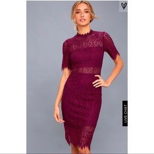 Remarkable burgundy dress